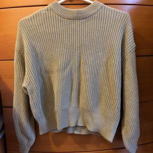 H&M Chunky Knit Sweater with Balloon Sleeves